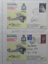 2 x FDC ROYAL AIR FORCE No17 SQUADRON 33rd ANNIVERSARY BATTLE BRITAIN 15 SEPT 73