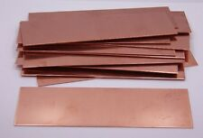 Copper Sheet Bracelet Blanks 20ga 6 in. x 2 in. .80mm Thick Pack Of 12