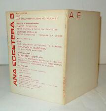 ANA ECCETERA n.3 1960[poesia verbovisiva,avanguardia,Oberto,David Gordon,Ribulsi