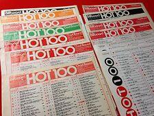 COMPLETE SET OF 28 ORIGINAL BEATLES SOLO #1 BILLBOARD SINGLE & ALBUM CHARTS