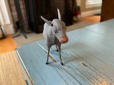 Putz Donkey Germany German Nativity Creche Antique Toy Composition Stick Leg
