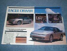 "1990 Eagle Talon TSi VintageRoad Test Info Article ""Eagle Driver"" Mitsubishi"