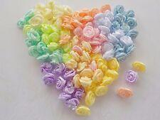 100! magnífico Rosas cinta de raso - 10MM-mezcla de Flor Rosa Pastel Primavera!