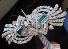 Aquamarine and Diamond Brooch Pin Combo by Raymond Yard R6180 Diamonds by Lauren