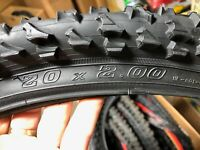 KNOBBY bicycle tires 20 x 2.00 BLACK KNOBBY UNUSED  BMX MTB Off Road FREE SHIP
