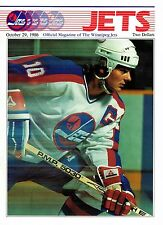 1986 Winnipeg Jets Home vs Calgary Flames NHL Hockey Program #79