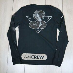Nike AM Crew Running Top Long Sleeve Black Small