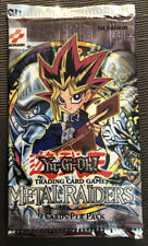 YUGIOH FIRST EDITION METAL RAIDERS ENGLISH BOOSTER PACK SEALED(1 lot)
