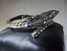 Bracelet VENIZI Acier Argenté & Strass 6cm Forme Feuille
