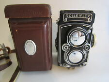 Working Rolleiflex with Carl Zeiss Planar f3.5 75mm Lens and Case