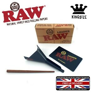 RAW CONE LOADER KING SIZE PAPER CONE JOINT FILLER With Wooden Poker Scratch Card
