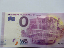 Miniature Wunderland Hamburg 0 Euro Schein 2018-4 Souvenirschein Fehldruck