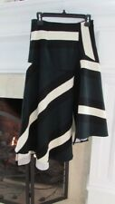Anthropologie's Eva Franco Asymmetrical Hem Geometric Skirt Sz 4 Retail $138