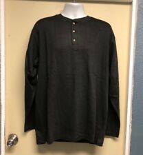 Men's FRC Long Sleeve Thermal Henley Work Shirt Size L-R New TAC23