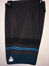 Gerry Swim Trunks Men's size L charcoal gray black & blue swim shorts Large