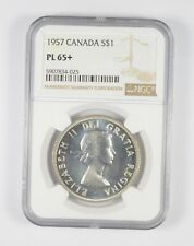 PL65+ 1957 Canada Silver Dollar - Graded NGC *094