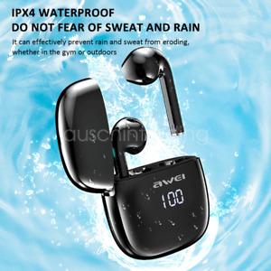 Awei T28P TWS Bluetooth Earphones Wireless Earbuds Waterproof LED Display Touch