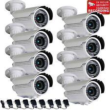 8 Security Camera w/ SONY Effio CCD 700TVL IR Night Vision Outdoor Zoom Lens m8y