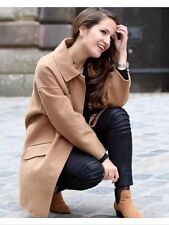 NEW ❤ ZARA CAMEL TAN COAT JACKET BLAZER HANDMADE OVERSIZED ICONIC - M UK 12 /14