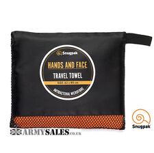 Snugpak Antibacterial TRAVEL TOWEL HANDS & FACE in Blaze Orange