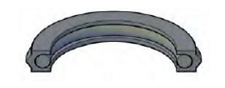"""PS CP-350 - 5"""" x 4-5/8"""" x .255"""" - Crowned Piston Seal"""