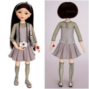 """New Emerald Outfit for 16"""" MIM - Make It Mine Doll - Green Party Dress -Goodreau"""