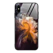 For iPhone 11 Pro Max XS X XR 6s 7 8 Glossy Tempered Glass Ocean Wave Case Cover