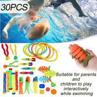 Underwater Dive Ring Sticks Swim Fun Toys Kids Beach Swimming Pool Game Gift