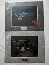 Star Trek Set of 2 USS Enterprise 1701-D 1701-A ChromArt
