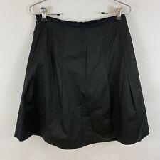 Vince Women's Size 4 Skirt A-Line Box Pleats Black Knee Length Cotton Blend