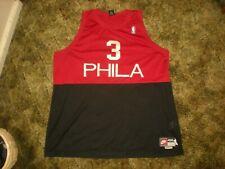 ALLEN IVERSON PHILA NBA NIKE JERSEY 4XL 1966 REWIND 76'ers SEWN RED & BLACK