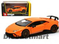 Bburago 1:24 Lamborghini Huracan Performante Orange 18-21092 Diecast Model Car