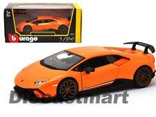 Bburago 1:24 Lamborghini Huracan Performante Orange 18-21092 Diecast Model Car
