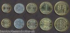 ESTONIA COIN SET 10+20+50 Senti +1+5 Krooni 1994-2006 UNC UNCIRCULATED LOT of 5