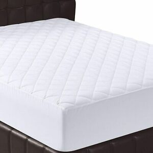 Extra Deep 30CM Quilted Bed Mattress Protector Cover Fitted Sheet Diamond Topper