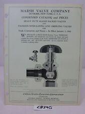 1940'S ADVERTISING BROCHURE PAMPHLET-AUTOMATIC STATES RADIATOR-MARSH VALVE CO.