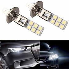 2Pcs 6000K H1 High Power LED White Headlight Fog Driving DRL Light 5050SMD Bulb