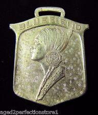 Antique Bluefield Pocahontas W Va Medallion Fob ornate Whitehead&Hoag Newark NJ