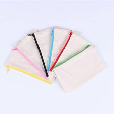 Canvas Makeup Bags Canvas Zipper Pouch Bags Pencil Case Blank DIY Storage Bag