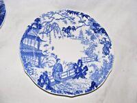 Antico Royal Crown Derby Blu & Bianco Mikado Porcellana Insalata Piatto 17.8cm