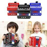 Kids 7 Treble 2 Bass Kleines Akkordeon Pädagogisches Musikinstrument Schwarz