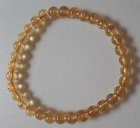 BRACELET PIERRES POLIES CITRINE - lithothérapie perles boules AA 6mm