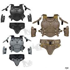 WoSporT Tactical Vest Modular Armor Suit Set Adjustable Elbow Pad Waist Seal