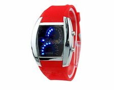 Reloj de pulsera Calidad BINARIO digital coche DASH BOARD tema Led Sport vendedor del Reino Unido Rojo