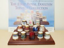 More details for the first royal doulton thimble collection - 12 exquisite fine china thimbles