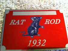 NEW    1932 RATROD PLATE chevy ford buick plymouth dodge  info data id plate