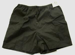 Coral Bay Women's The Everyday Pull On Drawstring Shorts LV5 Black Size 2X NWT