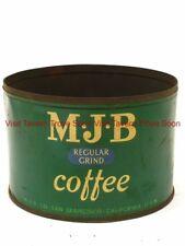 1940s M.J.B. REGULAR GRIND One Pound Coffee tin can San Francisco