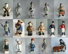 Porcelain figurines of people (different professions)