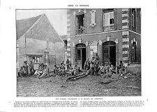 WWI Blessés Feldgrauen Mairie de Vareddes/Fort de Troyon Poilus ILLUSTRATION